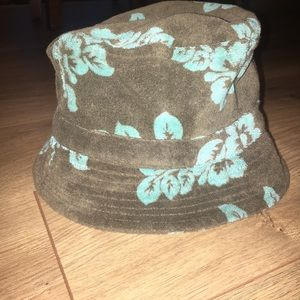 Brown and teal Bucket hat